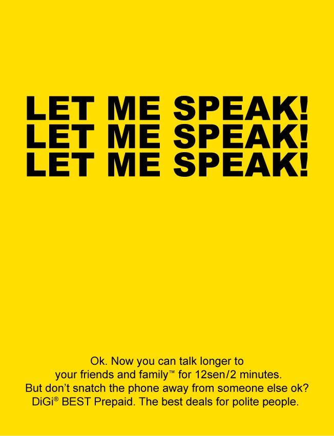 Digi Telecomunications - Let Me Speak