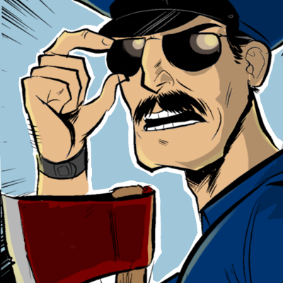 Axe Cop close up