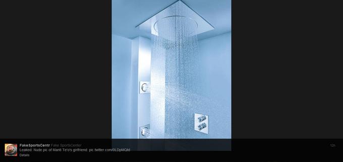 Te'o's girlfriend showering