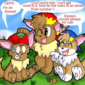 Ash as an Eevee