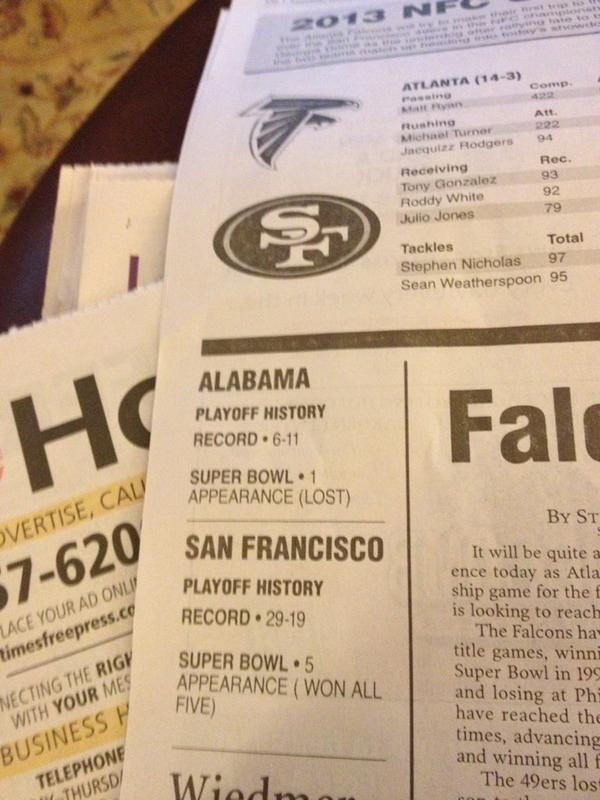 Newspaper fail - NFC Championship