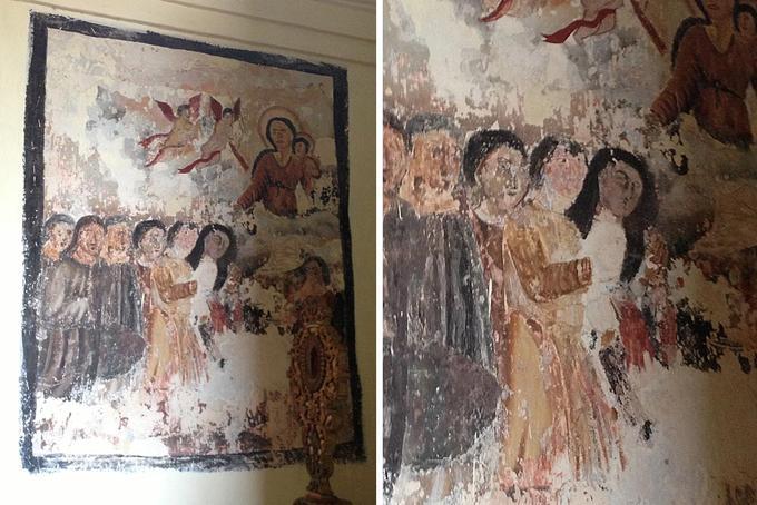 Mural in the historical Goan church: The Basilica of Bom Jesus
