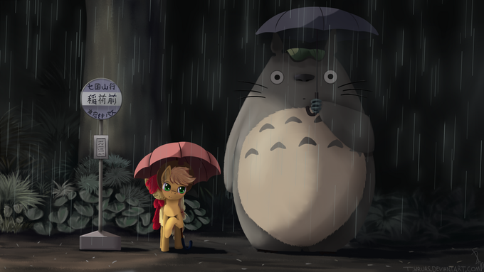 Totoro And Some Apples