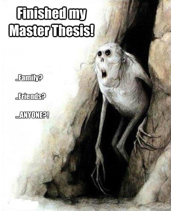 Finished my Master Thesis!