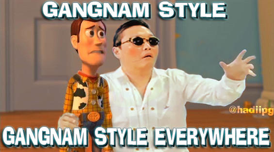 Gangnam Style Everywhere by yefta03