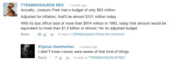 Savvy T. rex