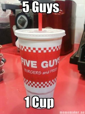 5 guys, one cup