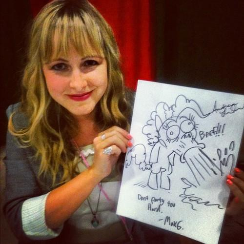 Andrea Libman Holds a Drawing