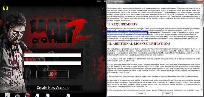The War Z Terms of Service