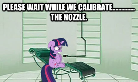 Please wait while we calibrate...............The Nozzle.