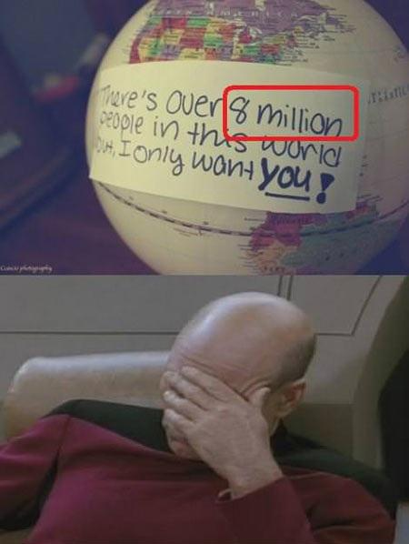 You Missed 6 Billion 992 Million People