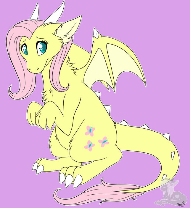 Fluttershy is cutest dragon