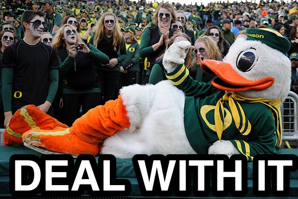Oregon Duck Deal With It