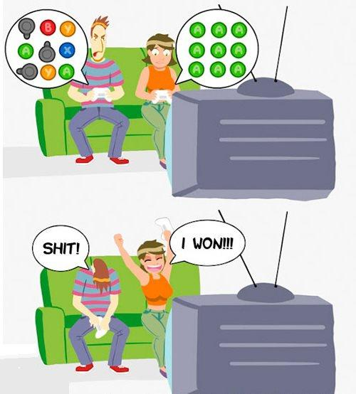 How Girls Win At Video Games