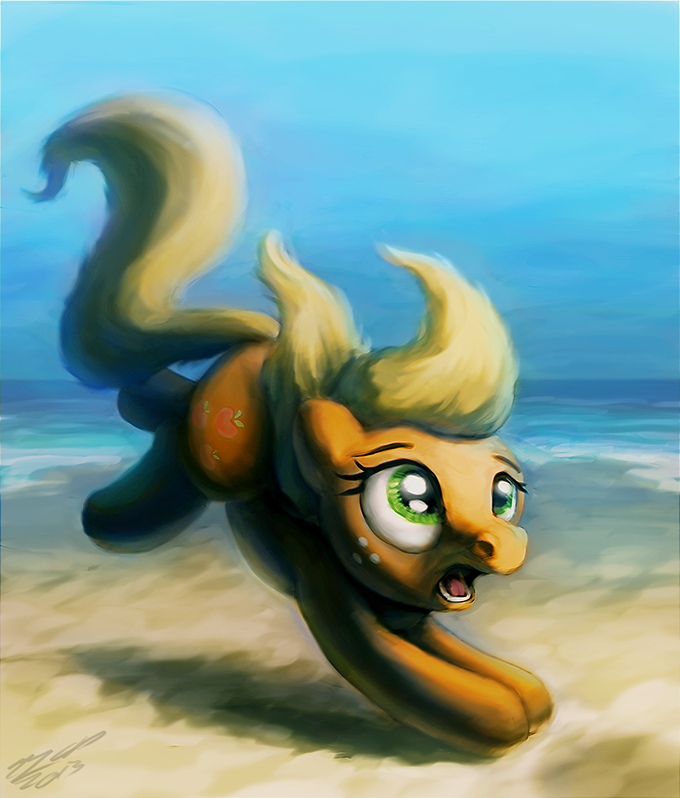 Apple on the Beach