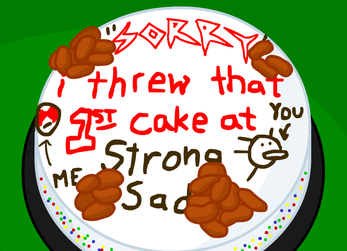 Strong Bad's Apology Cake