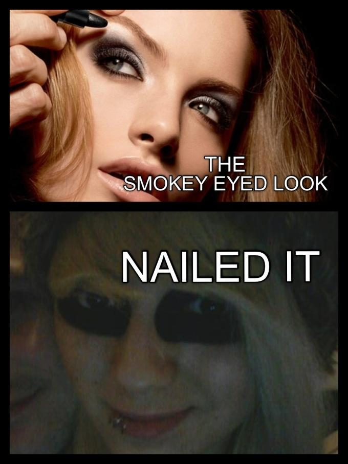 Smokey eyes? Nailed it.