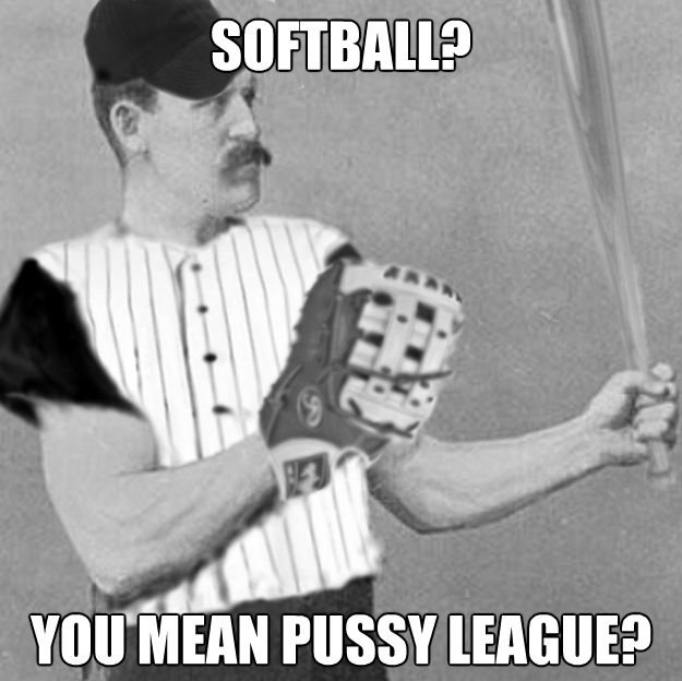 Overly Manly Baseball Player