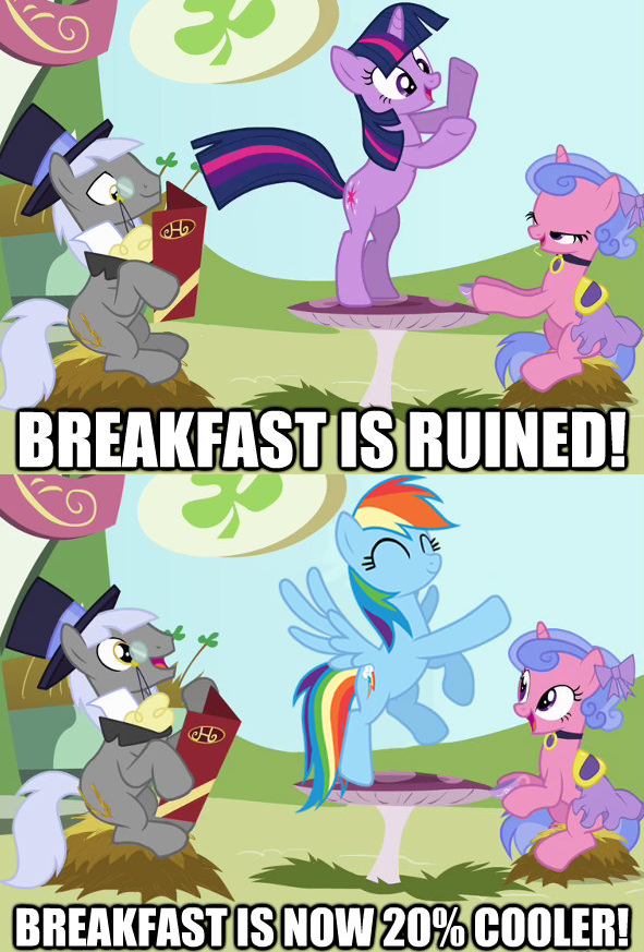 Breakfast is ruined! Breakfast is now 20% cooler!