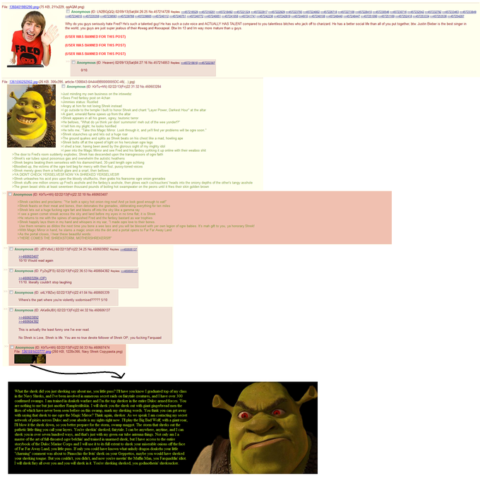 Yet another Shrek Green Text Story on /b/