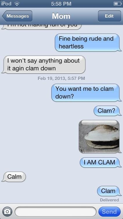 Clam down