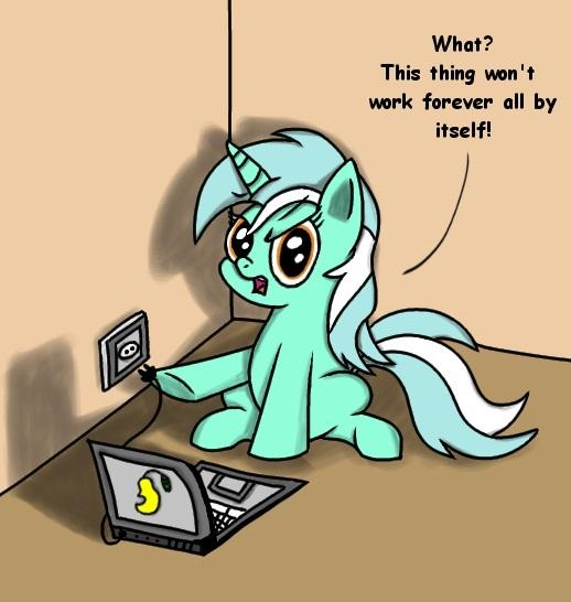 A pony charging