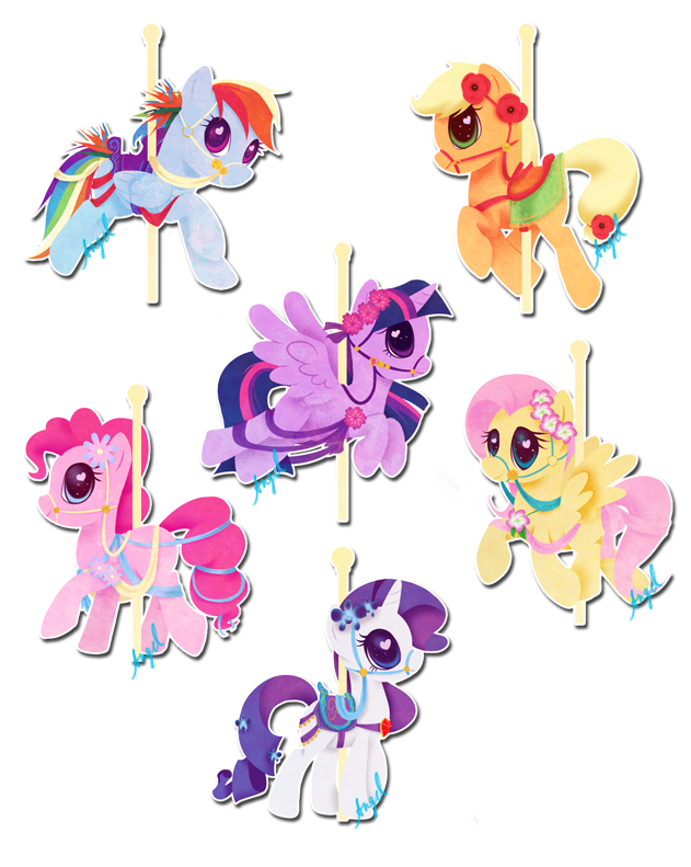 Carousel ponies