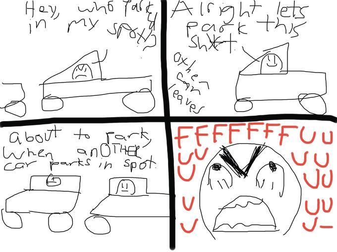 Car Park Rage Story