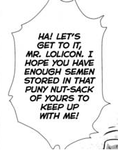 Mr. Lolicon and the Puny Nutsack