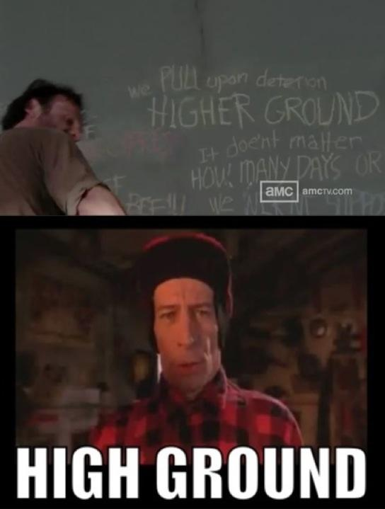 The High Ground The Walking Dead Know Your Meme