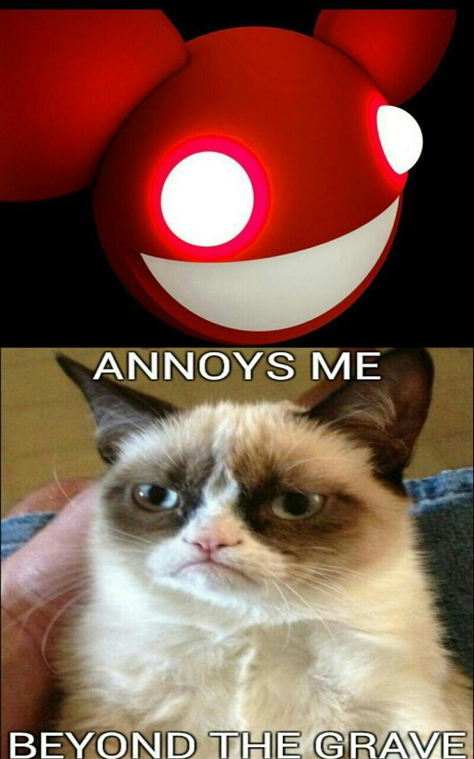 deadmau5 annoys grumpy cat beyond the grave