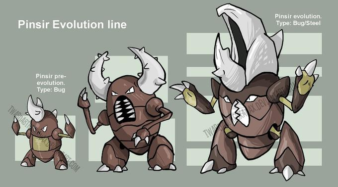 Fake Pinsir evolutions