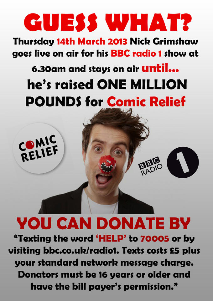 Nick Grimshaw -Comic Relief