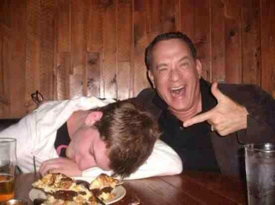 Tom Hanks photobombs a guy with his own camera