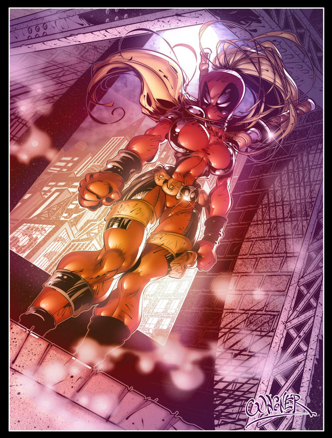Lady Deadpool by wagnerf