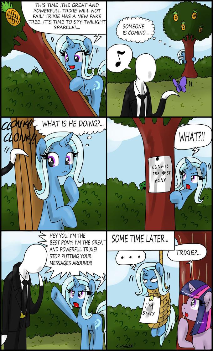 Trixie vs slenderman