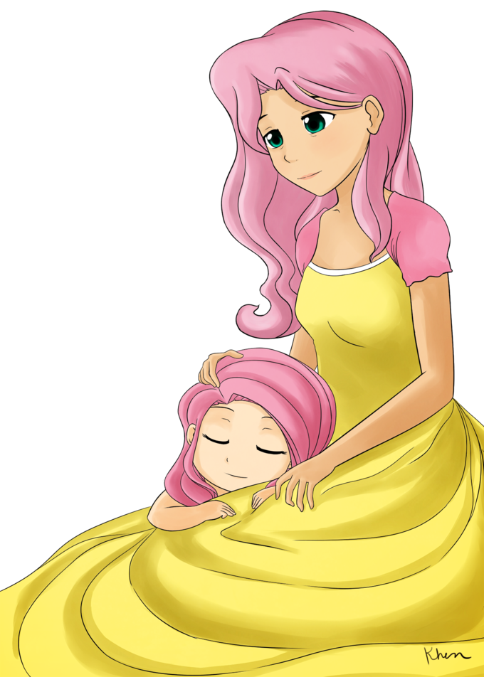 Fluttershy and her mom