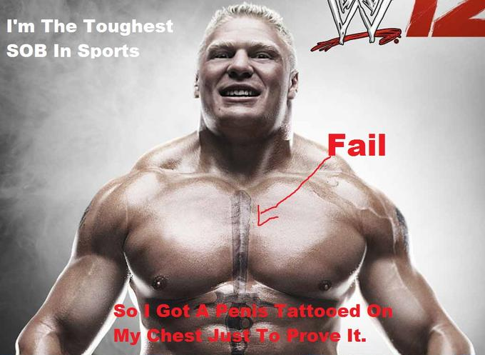 Brock Lesnar Tattoo Fail