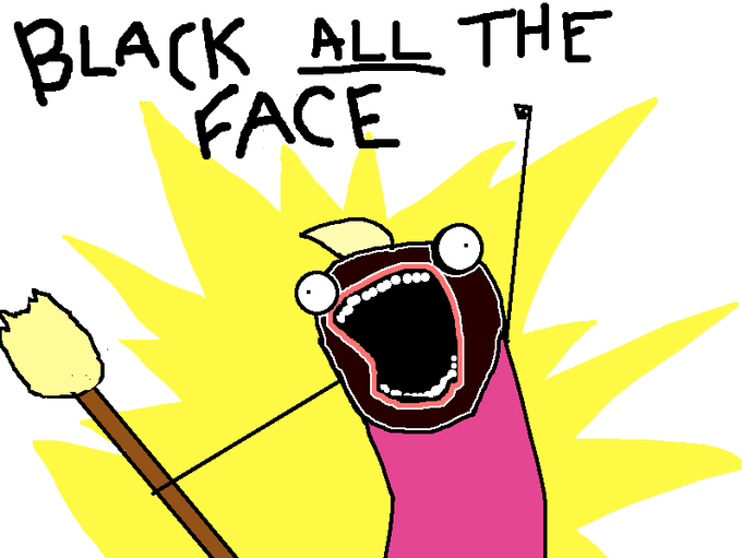 Black ALL the Face