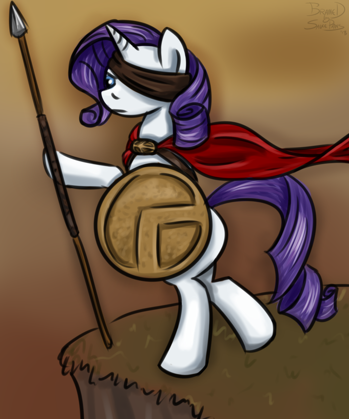 Rarity the Spartan