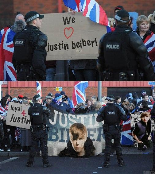 Maybe Justin will come to Northern Ireland, it's less in the UK than the rest of it.