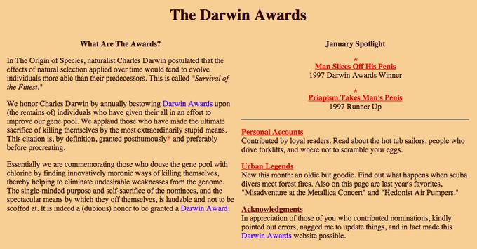 darwin awards penis