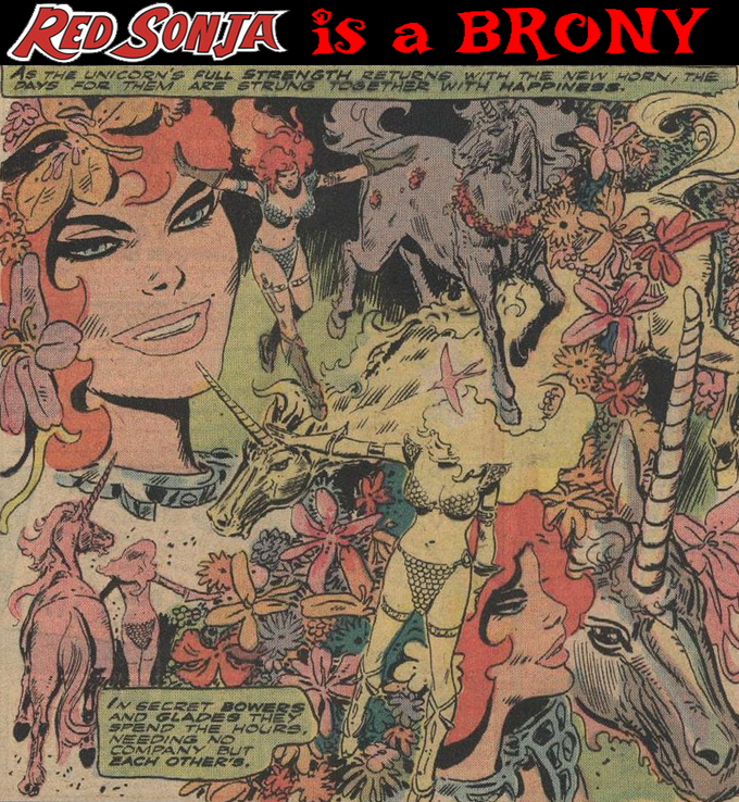 Red Sonja is a BRONY!