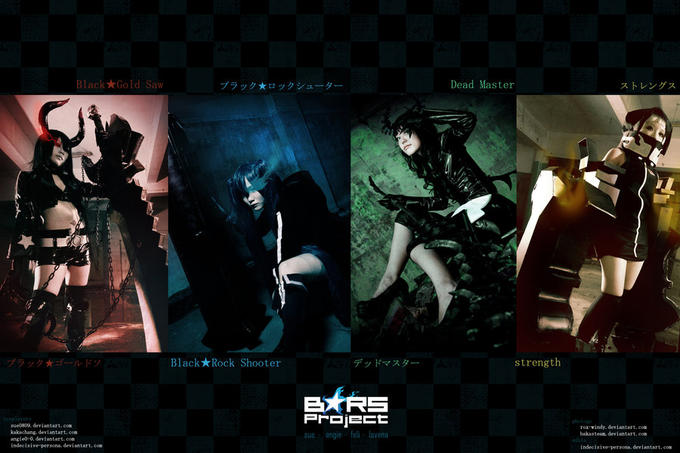 Black★Rock Shooter cosplays