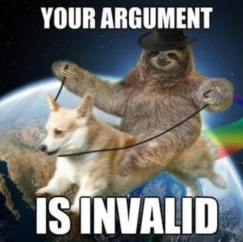 arguement is invalded