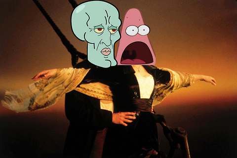 Surprised Patrick and Handsome Squidward