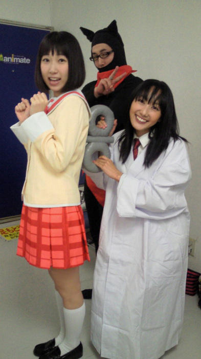 Nichijou voice actors in costume