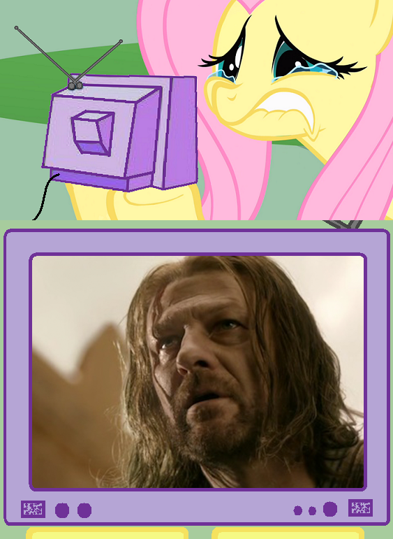 Fluttershy watching Game of Thrones
