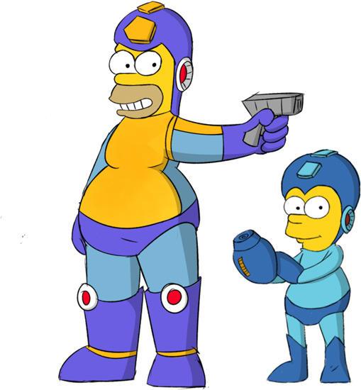 Mega Homer & Rock Bart