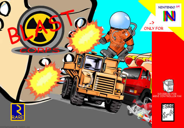 Blast Corps N64 Game Cover Comic Sans Clipart